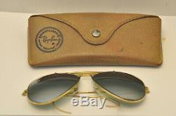 50's B&L Ray-Ban 10k Gold GF Double Gradient Mirror DGM Lens Aviator Sunglasses
