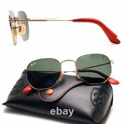 51mm ray-ban new sunglasses for women / men hexagonal ferrari green lens