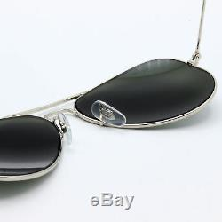 62mm ray-ban aviator new sunglasses for men and women silver mirror lens RB3025