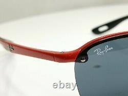 Authentic RAY-BAN Mens Sunglasses Scuderia Ferrari Collection RB 4302M F623/87
