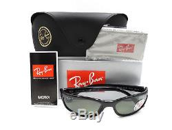 Authentic RAY-BAN Polarized Black Sunglasses RB4115 601/9A NEW