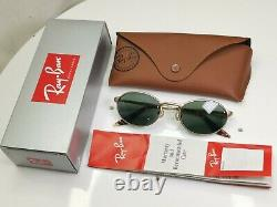 Authentic Ray-Ban Bausch Lomb Vintage 1995 Sunglasses Gold Metal Oval W2840
