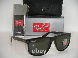 Authentic Ray-Ban Boyfriend black Frame / Green polarized RB 4147 601/58 60mm