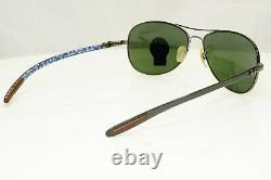 Authentic Ray-Ban Carbon Fiber Sunglasses Tech Cockit G15 Green RB 8301 029/98