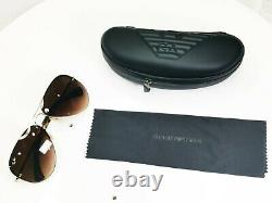 Authentic Ray-Ban Mens Vintage Sunglasses Gold Pilot Brown RB 3449 001/13 31819