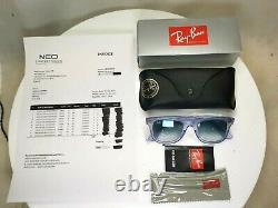 Authentic Ray-Ban Wayfarer Ice Pop Grape Sunglasses Blue RB 2140 6060/3F 30070