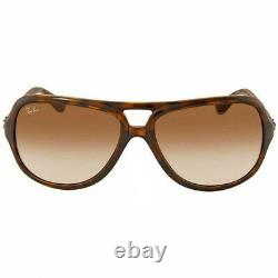 Authentic Ray-BanSunglasses Brown withCrystal Brown Gradient Lens RB4162 710/51