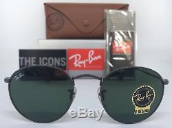 Authentic Ray-ban Round Metal Rb3447 029 50mm Gunmetal Frame G-15 Sunglasses