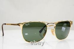 Authentic Vintage Bausch & Lomb Ray-Ban Mens Sunglasses Gold Signet B&L 27138