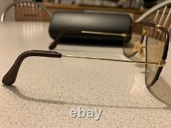 B&L RAY-BAN OUTDOORSMAN 5814 LEATHERS Changeable Brown Bausch&Lomb Vintage USA