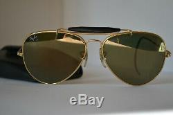 B&L RAY BAN USA SUNGLASSES DIAMOND HARD outdoorsman Golden Mirror lens 62mmGreat