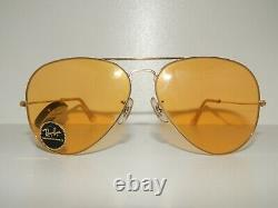 B&l Ray-ban Amber Maticvintage Aviator Sunglassesnever Usedold Stocktrendy