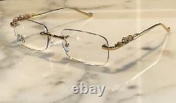 Braglia Gold Tiger Panther Leopard Glasses Sunglasses Frames Wood Horn Silver