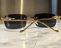 Braglia Gold Tiger Panther Leopard Lion Sunglasses Eyeglasses Frames Wood Horn