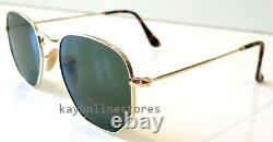 Hexagonal ray-ban sunglasses men women RB 3548N 001 G15 flat lens/ gold 51mm