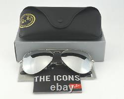 NEW AUTHENTIC Ray-Ban Aviator Sunglasses 58mm Frame/ Silver Mirror Glass Lens