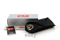 NEW Authentic RAY-BAN Gunmetal Black Green Square Sunglasses RB 3483 004/71 145