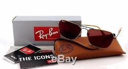 NEW Authentic Ray-Ban CARAVAN Bronze Copper Red Mirror Sunglasses RB 3136 167/2K