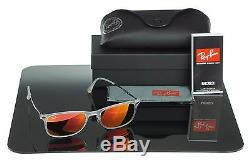 NEW Genuine RAY-BAN LIGHT RAY WAYFARER Red Mirror Sunglasses RB 4225 646/6Q 52mm