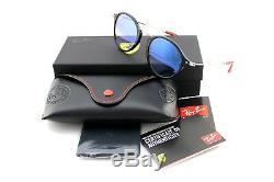 NEW Genuine RAY-BAN SCUDERIA FERRARI Black Silver Sunglasses RB 2447-NM F601/3F