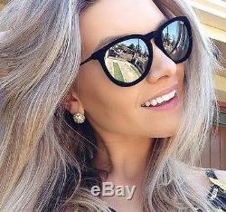 8c0d34e094 NEW Genuine Ray-Ban ERIKA VELVET EDITION Black Mirror Sunglasses RB 4171  6075 6G