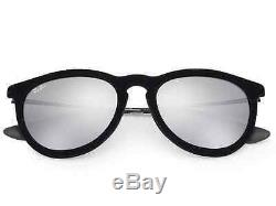 NEW Genuine Ray-Ban ERIKA VELVET EDITION Black Mirror Sunglasses RB 4171 6075/6G
