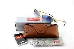 NEW Genuine Ray-Ban SIGNET Gold Light Blue Gradient Sunglasses RB 3429-M 001/3F