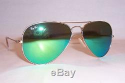 NEW RAY BAN AVIATOR Sunglasses 3025 112/19 GOLD/GREEN MIRROR 58MM AUTHENTIC