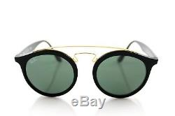 NEW RAY-BAN GATSBY I Black Green Classic Round Sunglasses RB 4256 601/71 49MM