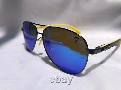 NEW RAY BAN Men RB8313M-003-HO Ferrari Gunmetal Yellow Polarized Lens Italy Made