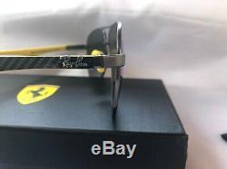 NEW RAY BAN Men RB8313M/003-HO Ferrari Gunmetal Yellow Polarized Lens Italy Made
