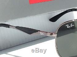 NEW Ray Ban AVIATOR Gunmetal Matte Black w Green Lens Sunglass RB 3519 004/71