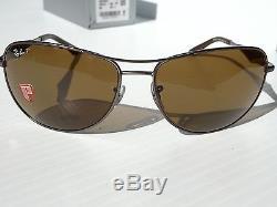 NEW Ray Ban AVIATOR POLARIZED Bronze Lens Gunmetal Matte Frame RB 3519 004/71