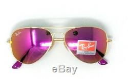 NEW Ray Ban Aviator RB3025 58mm Mirrored Pink with Gold Frame