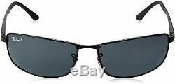 NEW Ray-Ban Black Metal Frame / Polarized Grey Gradient Lenses RB 3498 006/81 64