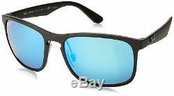 NEW Ray-Ban Chromance Black Frame / Polarized Blue Mirror Lens RB 4264 601SA1 58
