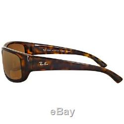 NEW Ray-Ban Chromance Tortoise Frame Polarized Bronze Mirror RB 4283CH 710/A3 64