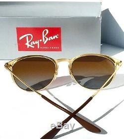 NEW Ray Ban ERIKA Matte Gold w POLARIZED Brown Lens Women's Sunglass RB 3539