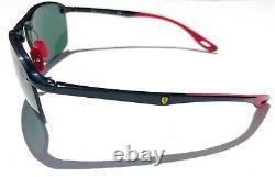 NEW Ray Ban FERRARI Black frameless w Grey Black lens Sunglass RB 4302 F60171