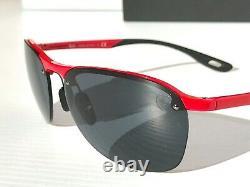 NEW Ray Ban FERRARI Red frameless RB 4302 Grey Black lens Sunglass