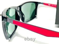 NEW Ray Ban FERRARI wayfarer Black Red Frames with Black Lens Sunglass RB 4228