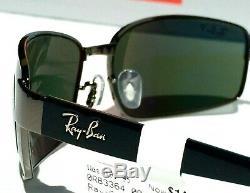NEW Ray Ban Gunmetal w POLARIZED Green Chromace Sunglass RB 3364 004/58 62mm 3P