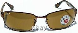 NEW Ray Ban Havana Brown Gunmetal Polarized Brown Lens Sunglass RB 3478 014/57