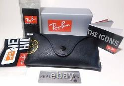 NEW Ray-Ban Justin RB4165 622/6Q Wayfarer Sunglasses/Matte Black/Red Mirror 54mm