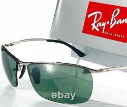 NEW Ray Ban RB 3544 003/5L Chrome w POLARIZED Green G-15 lens Sunglass