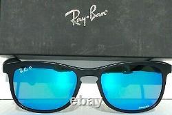 NEW Ray Ban RB4263 601 Chromance POLARIZED Blue in Matte Black Sunglass