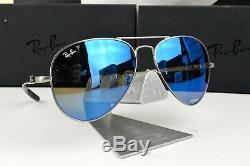 NEW RayBan RB8317CH-029/A1 Carbon / CHROMANCE Blue Polarized 58mm Sunglasses