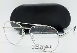 NEW RayBan RX Frame Aviator Glasses Silver RX6413 2501 56 AUTHENTIC 6413