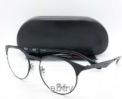NEW RayBan RX Glasses Frame Matte Black Metal RX6406 2904 51mm AUTHENTIC Round