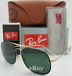 NEW Rayban Blaze General sunglasses RB3583N 905071 58 Gold Classic Green GENUINE